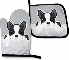 Oven Mitts and Pot Holders Boston Terrier Puppy