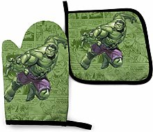 Oven Mitts and Pot Holders - Cute Hulk Heat