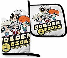 Oven Mitts and Pot Holders,Golden Powerpuff Girls