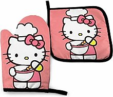 Oven Mitts and Pot Holders - Hello Kitty Cooking