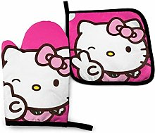 Oven Mitts and Pot Holders - Hello Kitty Heat