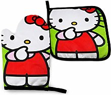 Oven Mitts and Pot Holders - Hello Kitty with