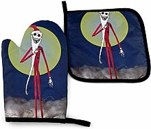 Oven Mitts and Pot Holders - Jack Skeleton Heat