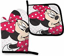 Oven Mitts and Pot Holders - Kisses Minnie Mouse