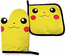 Oven Mitts and Pot Holders - Pikachu face Heat