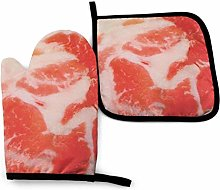 Oven Mitts And Pot Holdersset Fresh Meat Gloves
