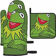 Oven Mitts and Pot Holders Set,Kermit The Frog