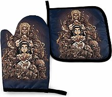 Oven Mitts and Pot Holders Set,Labyrinth Thirteen