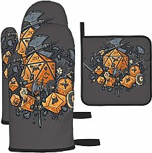Oven Mitts and Pot Holders Set,RPG United Heat