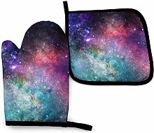 Oven Mitts And Pot Holdersset Stars Space Gloves