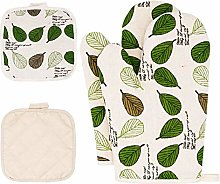 Oven Mitts and Pot Holders Sets 4 pcs, Green Oven