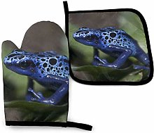 Oven Mitts And Pot Holders Sets, Blue Frog Kitchen