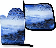 Oven Mitts And Pot Holders Sets, Blue Moon Kitchen