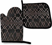 Oven Mitts and Pot Holders Sets Chic Elegant Faux