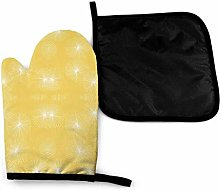 Oven Mitts and Pot Holders Sets,Dandelions Yellow
