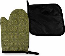 Oven Mitts and Pot Holders Sets,Deep in The Dark,