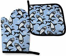 Oven Mitts And Pot Holders Sets, Great White Shark