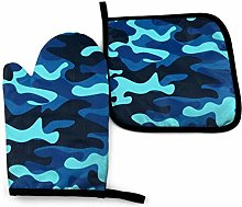 Oven Mitts And Pot Holders Sets, Navy Camo Kitchen