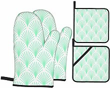 Oven Mitts and Pot Holders Sets of 4,Elegant