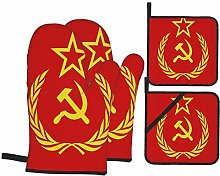 Oven Mitts and Pot Holders Sets of 4,USSR