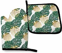 Oven Mitts and Pot Holders Sets Palm Tree Green