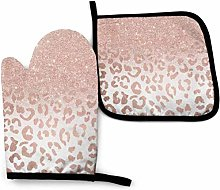 Oven Mitts and Pot Holders Sets Print Trendy