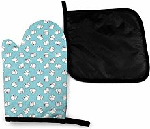 Oven Mitts and Pot Holders Sets,Roll Paper Tiled
