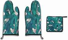 Oven Mitts and Pot Holders Sets,Whale Tribe Heat