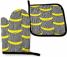 Oven Mitts and Pot Holders Sets,Yellow Camera with