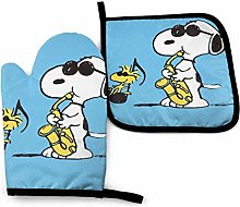 Oven Mitts and Pot Holders - Snoopy with Peanuts