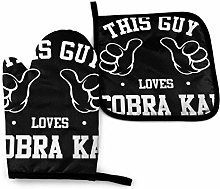 Oven Mitts and Pot Holders,This Guy Loves Cobra