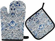 Oven Mitts and Potholder Set William Morris Oven