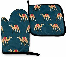 Oven Mitts and Potholders (2-Piece Sets),Camel