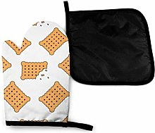 Oven Mitts and Potholders (2-Piece Sets),Cookie