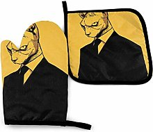 Oven Mitts and Potholders (2-Piece Sets),Cool Cat