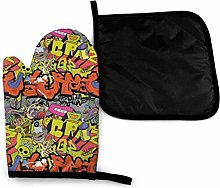Oven Mitts and Potholders (2-Piece Sets),Hip Hop