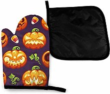 Oven Mitts and Potholders (2-Piece Sets),Pumpkins