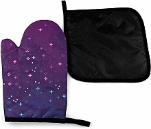Oven Mitts and Potholders (2-Piece Sets),Purple