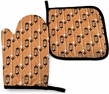 Oven Mitts and Potholders (2-Piece Sets),Rainy