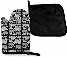 Oven Mitts and Potholders (2-Piece Sets),Rhino