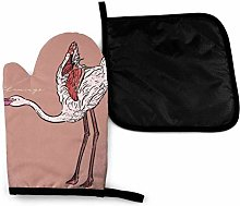 Oven Mitts and Potholders (2-Piece Sets),White