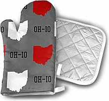 Oven Mitts and Potholders,Oh-Io State Gray Pot