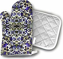 Oven Mitts and Potholders,Purple Pansy Confetti