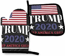 Oven Mitts and Potholders Set, Keep America Great