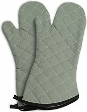 Oven Mitts Flame Retardant Mitt,Quilted Flannel