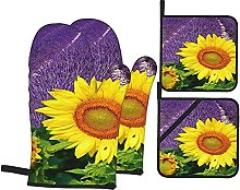 Oven Mitts/Microwave Gloves/Oven Gloves Purple