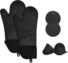 Oven Mitts, Professional Silicone Oven Mitt with
