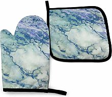 Ovenmitts and Potholders,Blue Purple Marble