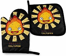 Ovenmitts and Potholders,Calcifer Retro Japanese