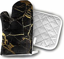 Ovenmitts and Potholders,Gold and Black Wallpaper